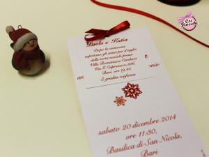 Coi Fiocchi wedding design partecipazione matrimonio natalizia