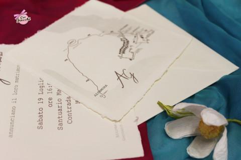 coi fiocchi partecipazioni matrimonio carta amalfitana