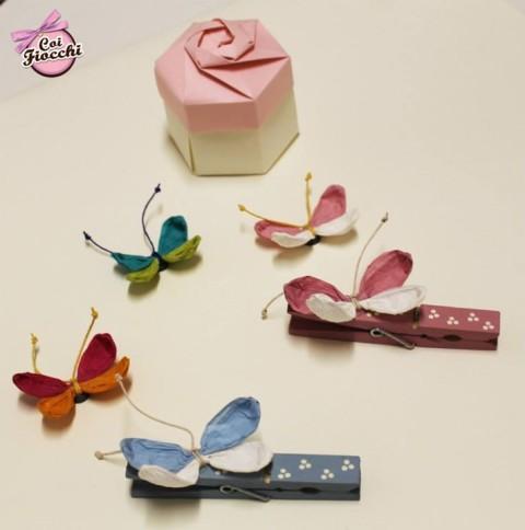 Coi Fiocchi wedding design idee regalo nascite battesimi compleanni-mollette-e-farfalle