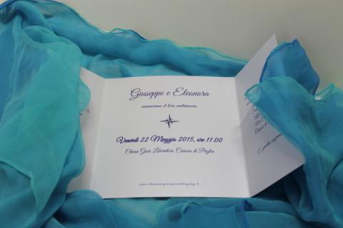 partecipazione nozze a tema rosa dei venti-particolare interno-Coi Fiocchi wedding design