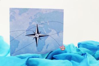 Coi Fiocchi wedding design invito tema viaggio con rosa dei venti