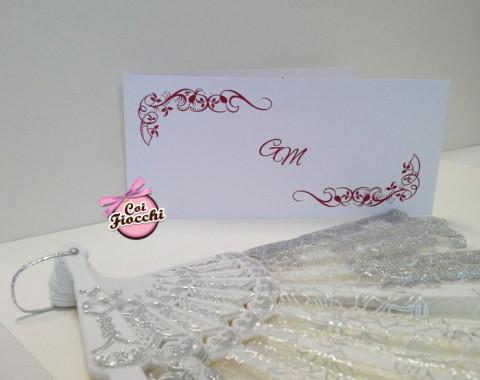 Coi Fiocchi wedding design invito matrimonio bordeaux e bianco