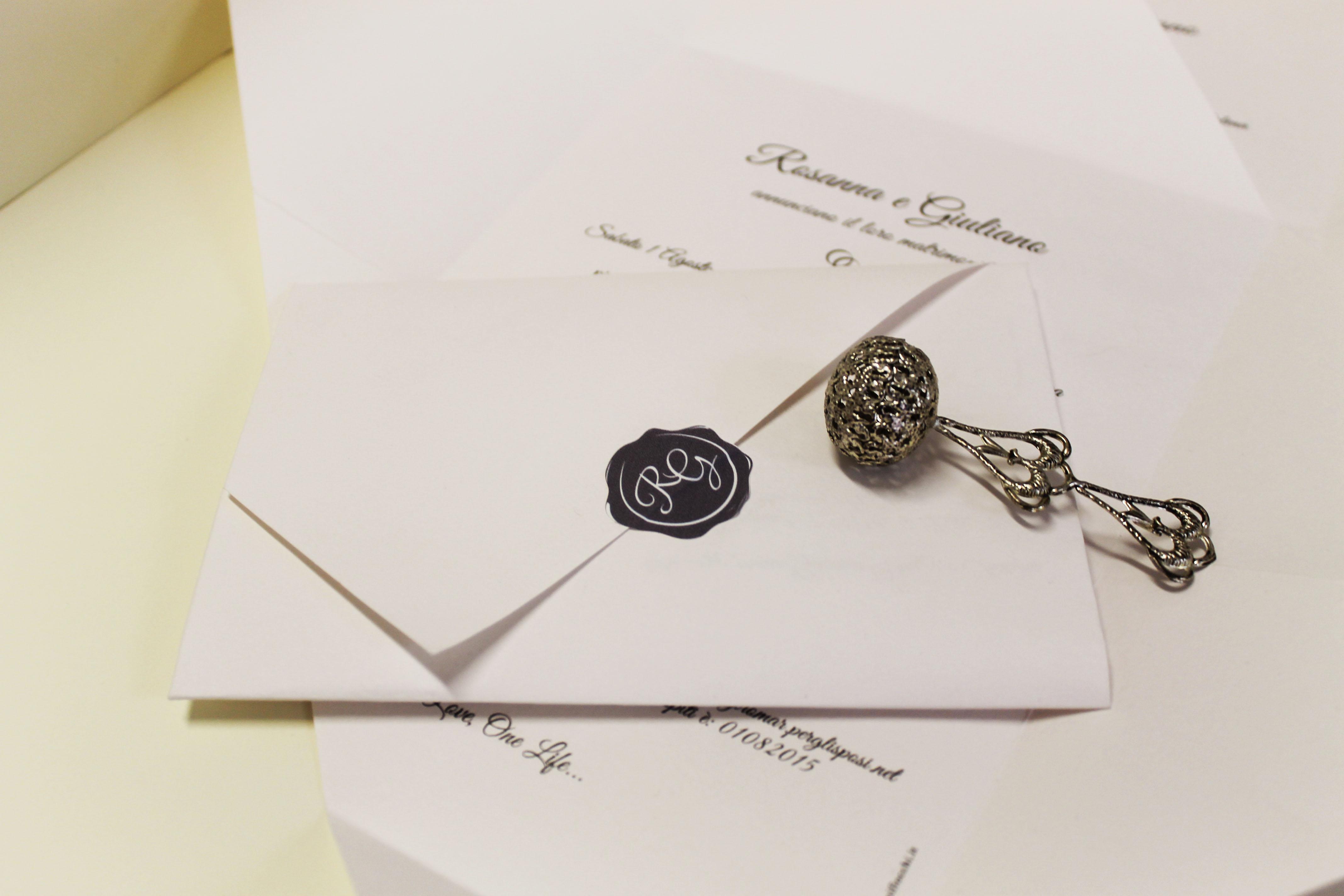 Partecipazioni di nozze a foglio unico