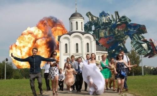Le foto di nozze più divertenti del web scelte da Coi Fiocchi_transformers