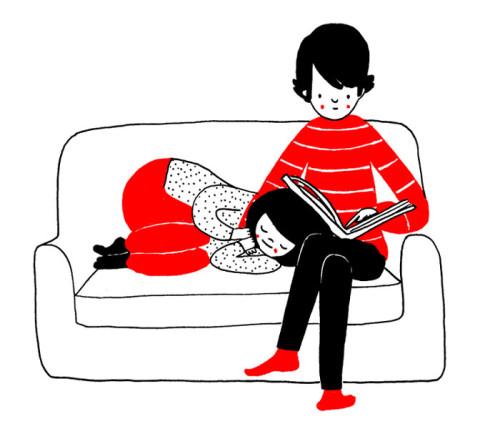 illustrazioni d'amore-soppy-philippa-rice-divano