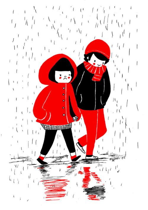 illustrazioni d'amore-soppy-philippa-rice-pioggia