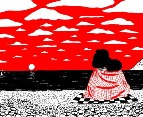 illustrazioni d'amore-soppy-philippa-rice-tramonto