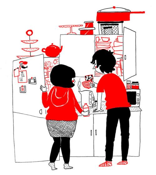 illustrazioni d'amore-soppy-philippa-rice-cucina
