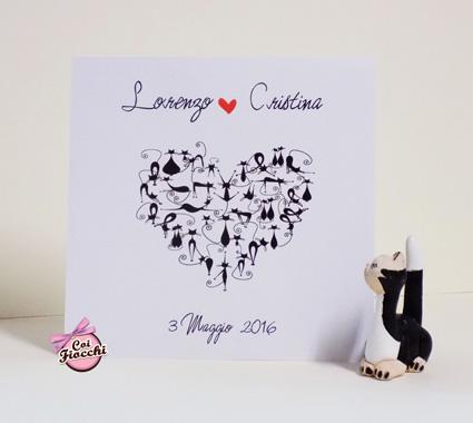 alternative tag_partecipazione di nozze illustrata a fumetti_cats_gatti