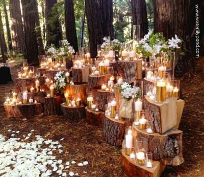 Tante belle idee con il legno per il tuo matrimonio rustico_altare