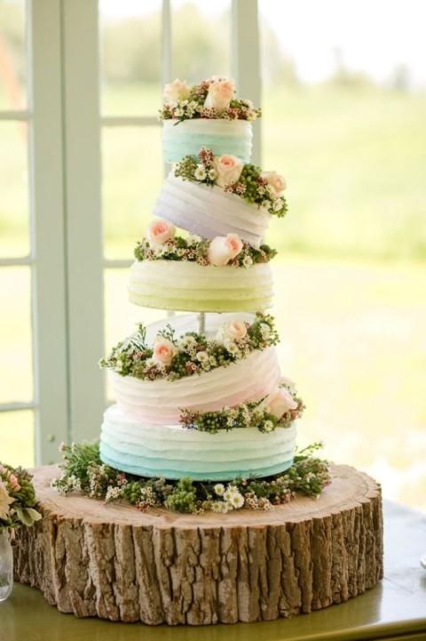 Tante belle idee con il legno per il tuo matrimonio rustico_torta nuziale