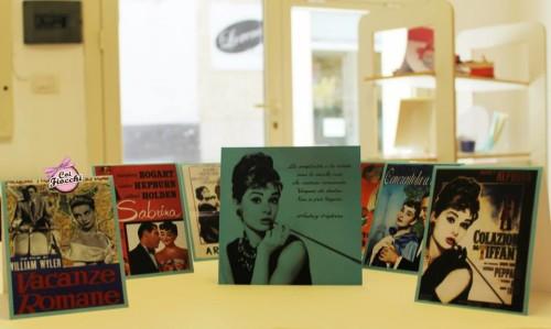 Inviti personalizzati per i tuoi 18 anni-tema cinema-audrey hepburn- colazione da Tiffany