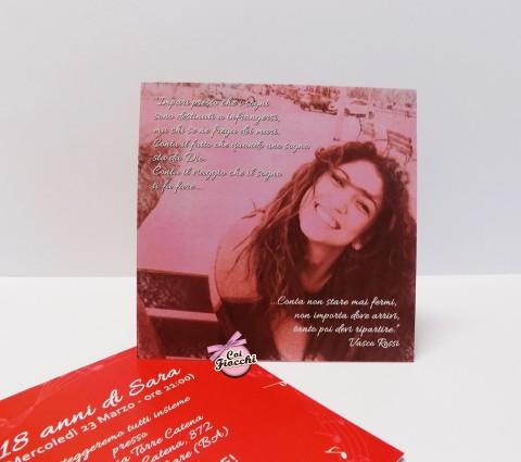 Inviti personalizzati per i tuoi 18 anni-tema musica canzoni Vasco Rossi foto