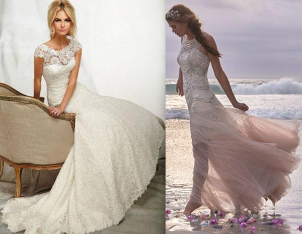 abiti da sposa shabby