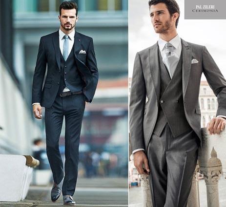 moda nozze uomo-abito classico tre pezzi