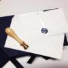 Partecipazioni di nozze in carta d'Amalfi con sigillo