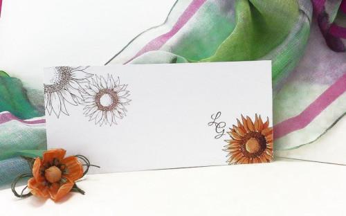 Inviti per anniversario di matrimonio_ fiori_girasole_coi fiocchi