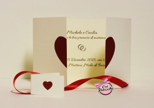 Inviti anniversario di matrimonio_ cuori_coi fiocchi