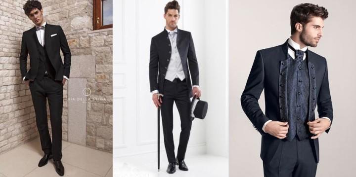 moda nozze uomo- collo alla coreana-divisa militare-stile impero