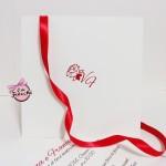 Partecipazioni di nozze  con le iniziali degli sposi