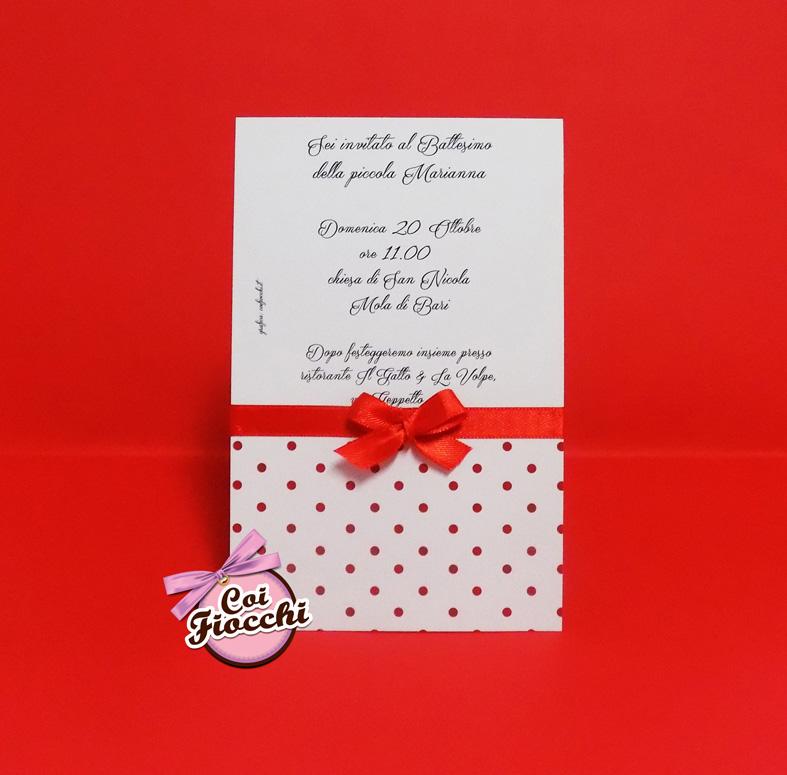 invito-di-battesimo-a pois-rossi-per-bimba-coi-fiocchi-wedding-design