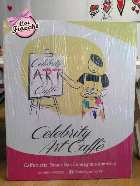 grafica pubblicitaria coi fiocchi-insegna di esercizio-celebrity art caffè