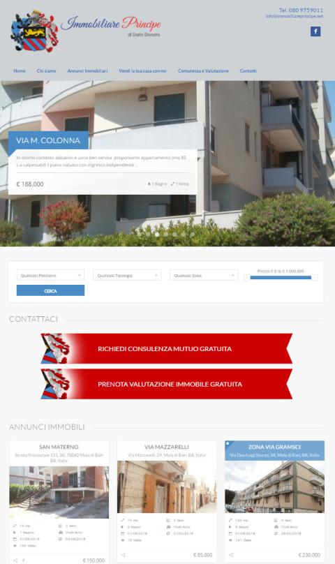 grafica pubblicitaria coi fiocchi-web design professionale-sito web agenzia immobiliare principe