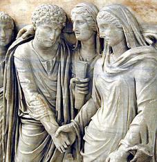 storia dell'abito da sposa_ matrimonio nell'antica roma_rito nuziale