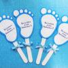 Inviti per battesimo a forma di piedini