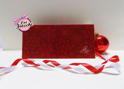 partecipazioni di nozze natalizie per chi si sposa a Dicembre-rosso-pieghevole