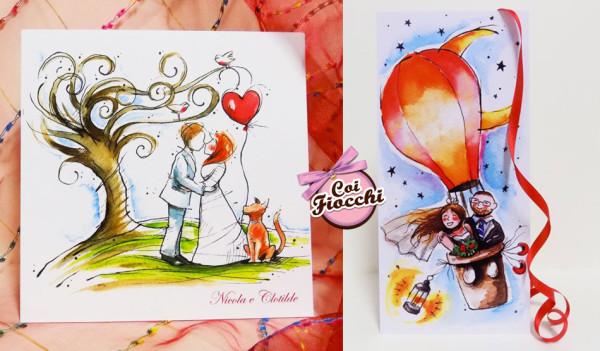 alternative tag_partecipazione di nozze illustrata a fumetti-illustrazioni-ad-acquerello