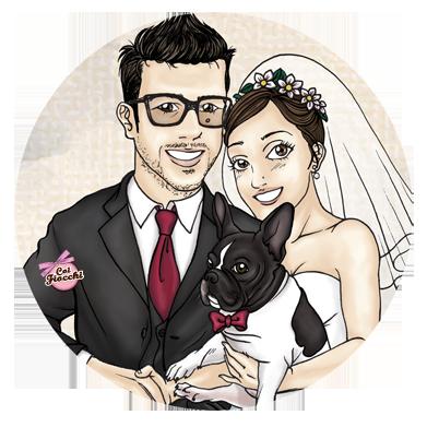 partecipazioni-di-matrimonio-a-tema-cani-o-gatti-disegno-manga-sposi-con-il-loro-cane