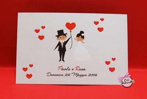 partecipazioni-di-matrimonio-economiche-moderna-disegno-sposi-coi-fiocchi-wedding-design