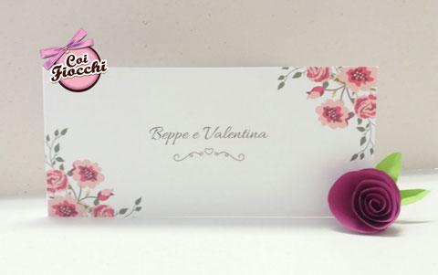 invito-nozze-boho-chic-con fiorellini-delicati rosa