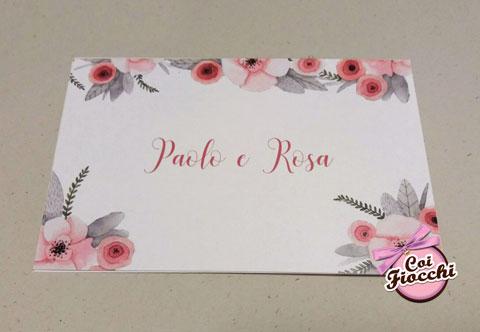 partecipazioni-di-matrimonio-boho-chic- romantica con fiori-delicati rosa
