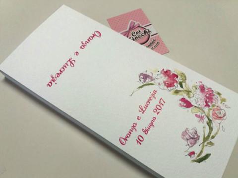 Partecipazioni di matrimonio illustrate ad acquerello