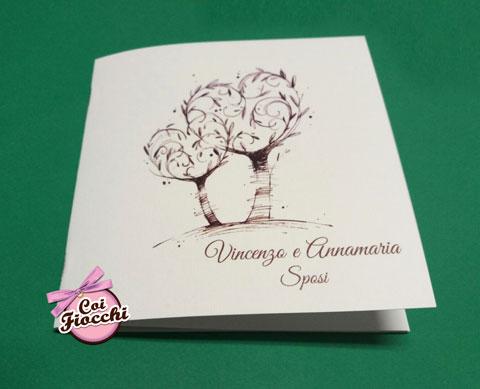 libretto-messa per le nozze con alberi della vita illustrati