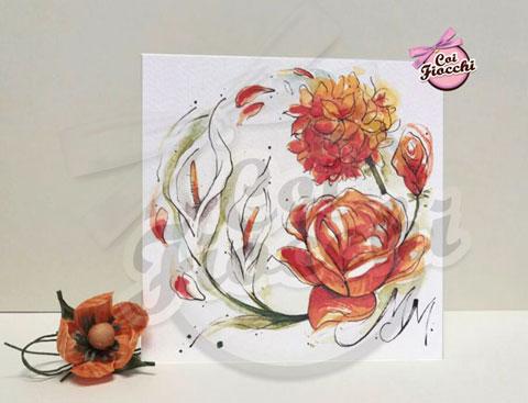 partecipazione-con fiori arancioni ad-acquerello-coi-fiocchi