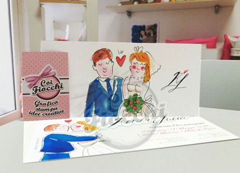 partecipazioni-di-matrimonio-illustrate-ad-acquerello-coppia-romantica-coi-fiocchi