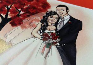 Partecipazioni di matrimonio con le caricature sposi più originali