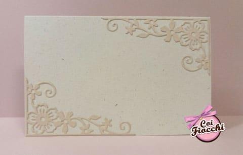 partecipazione-nozze classica in carta-naturale-algae con decoro-floreale-applicato