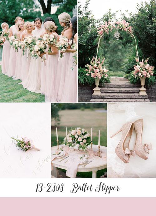 ispirazioni matrimonio color ballet slipper di pantone