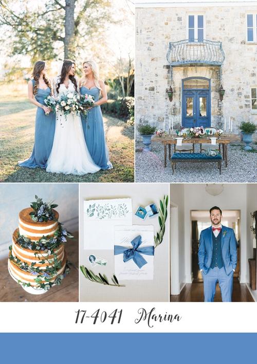 ispirazioni matrimonio color marina di pantone