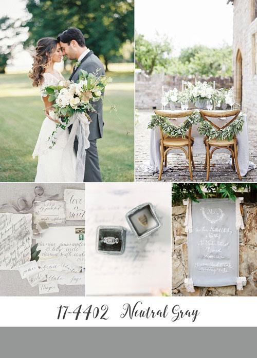 ispirazioni matrimonio color neutral grey di pantone