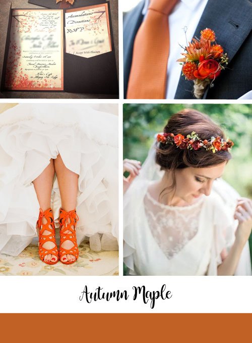 ispirazioni matrimonio colori autumn-maple di pantone
