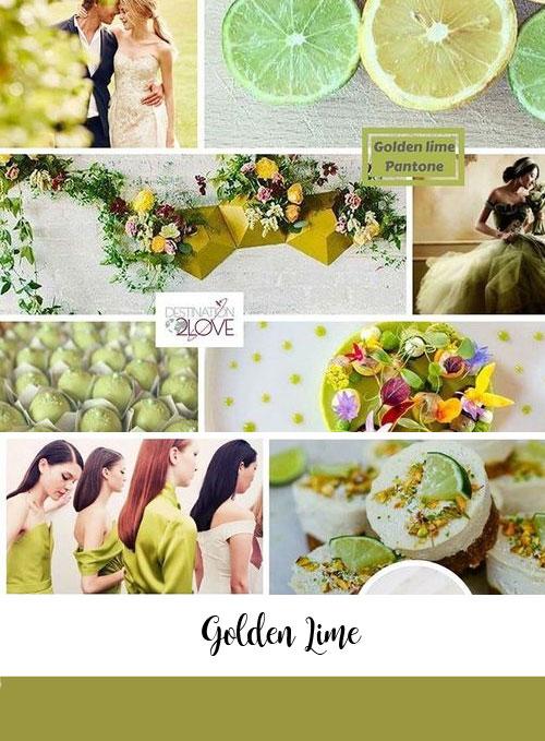 ispirazioni matrimonio color golden-lime pantone