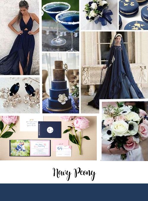 ispirazioni matrimonio color blu navy-peony di pantone
