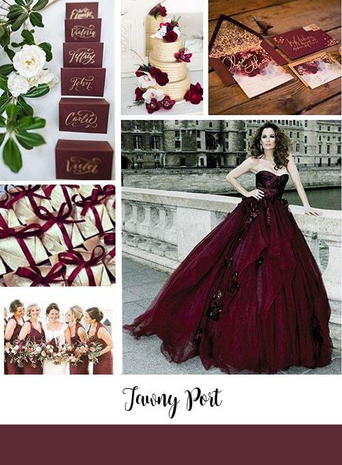 ispirazioni matrimonio color tawny port pantone