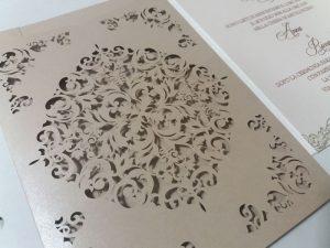 partecipazioni di nozze lasercut - studio di grafica coi fiocchi