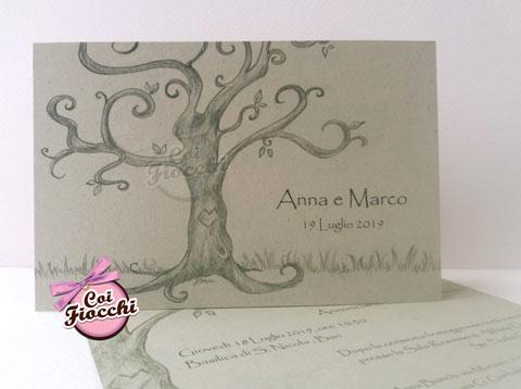 partecipazione-albero-della-vita ispirata ai disegni di tim burton